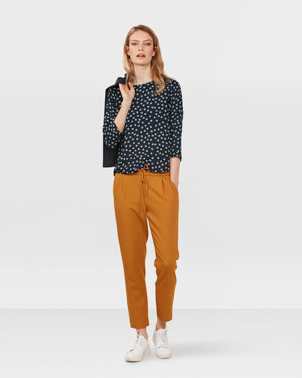 DAMES SQUARE PRINT BLOUSE Donkerblauw