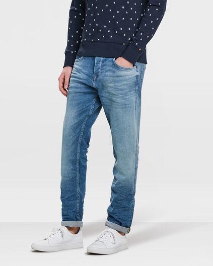 JEANS LOOSE TAPERED COMFORT STRETCH HOMME Bleu