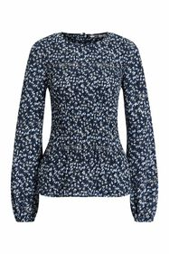 Dames plissé blouse met dessin_Dames plissé blouse met dessin, All-over print