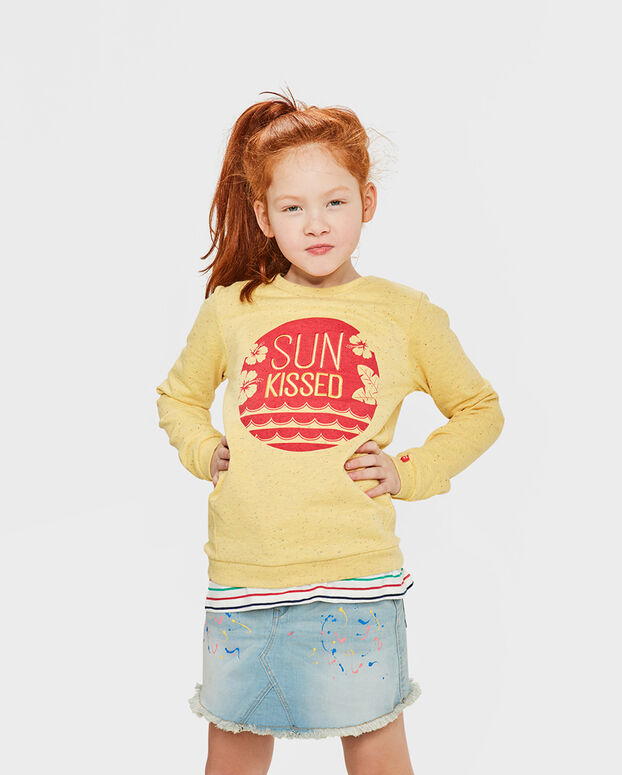 SWEAT-SHIRT SUN KISSED FILLE Jaune