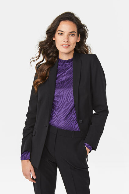 DAMES REGULAR FIT BLAZER Zwart