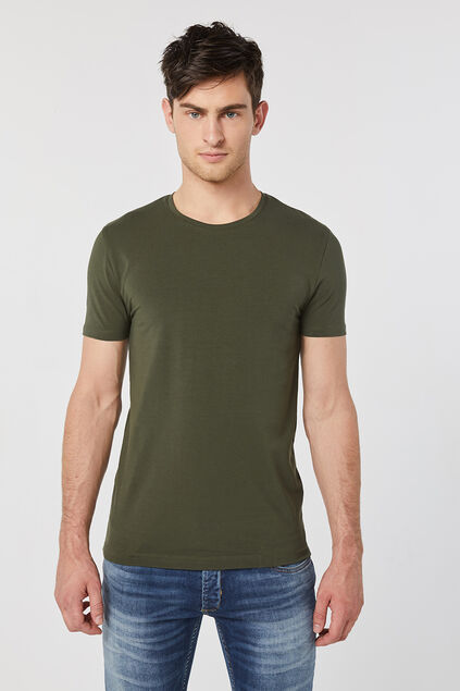 Heren T-shirt Legergroen