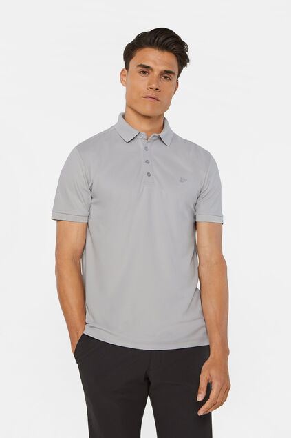 Heren hybrid slim fit polo met coolmax-technologie® Lichtgrijs