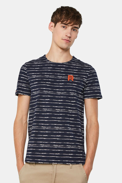 Heren gestreept T-shirt All-over print