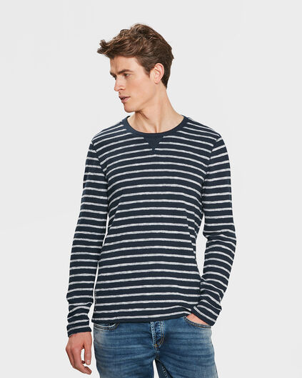 HEREN BLUE RIDGE STRIPE SHIRT Marineblauw