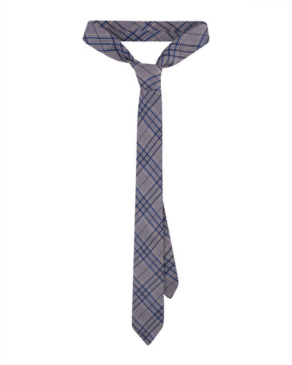 HEREN CHECKED PRINT TIE Blauw