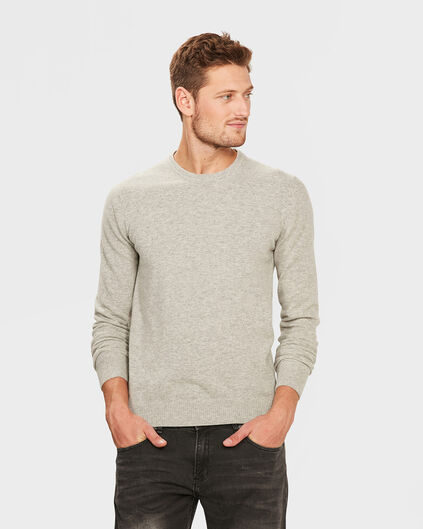HEREN R-NECK LAMBSWOOL BLEND TRUI Wit