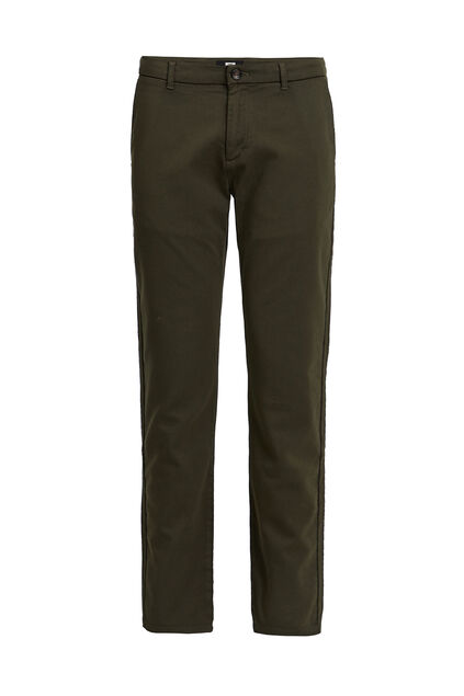 Heren slim fit chino Donkergroen