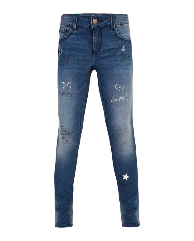 JEANS SUPER SKINNY POWER STRETCH FILLE Bleu