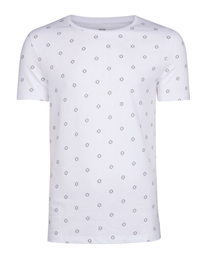 HEREN SLIM FIT GRAPHIC PRINT T-SHIRT Wit
