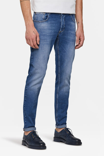Jeans skinny fit tapered homme Bleu