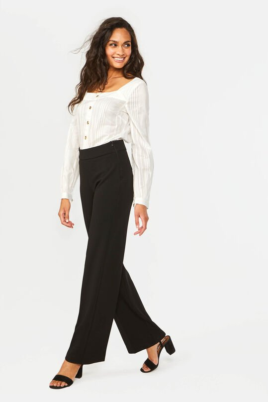Dames wide leg pantalon Zwart