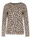 Dames jacquard luipaarddessin sweater, All-over print