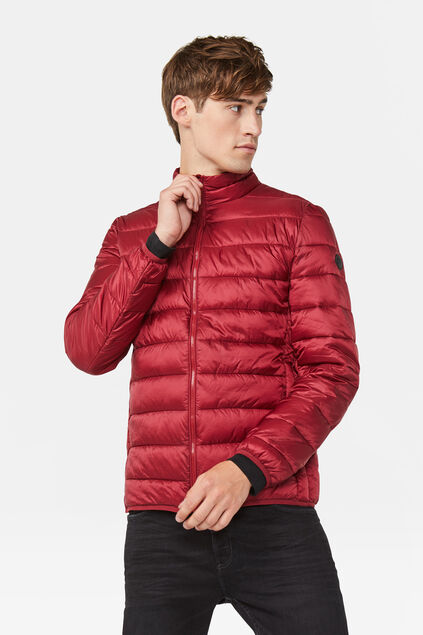 Heren puffer jacket Bordeauxrood