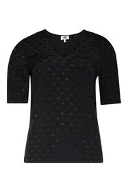 Dames dierenprint top_Dames dierenprint top, Zwart