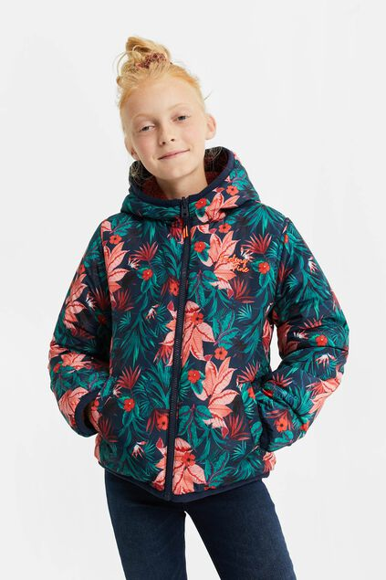 Meisjes reversible waterafstotende winterjas All-over print