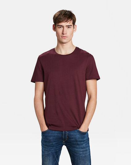 HEREN REGULAR FIT T-SHIRT Bordeauxrood