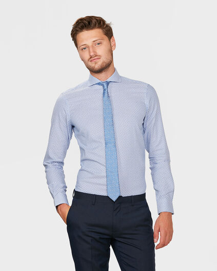 HEREN SLIM FIT FINEST COTTON OVERHEMD Blauw