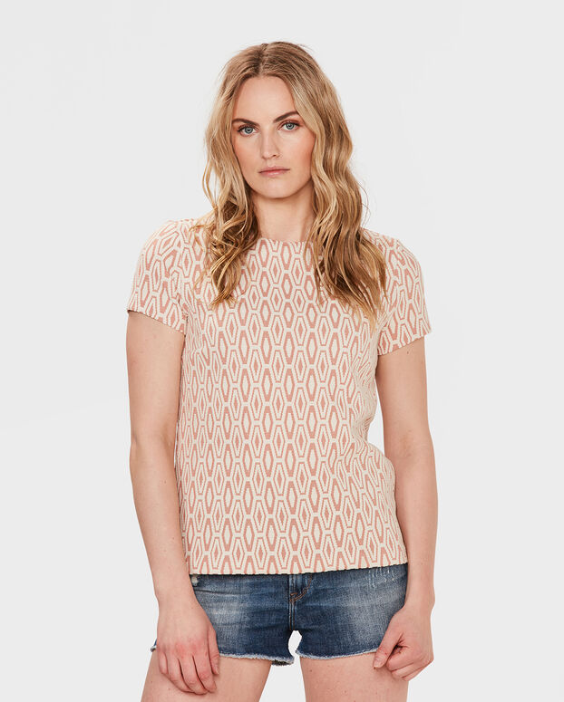 DAMES JACQUARD TOP All-over print