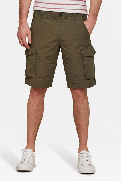 Heren relaxed fit cargo short Khaki