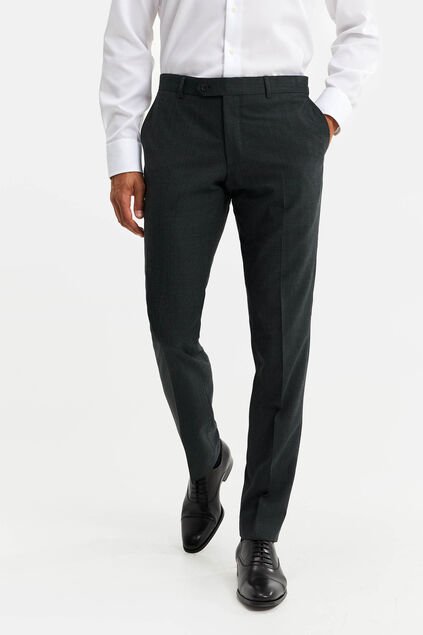 Heren slim fit pantalon, Vernon Donkergroen
