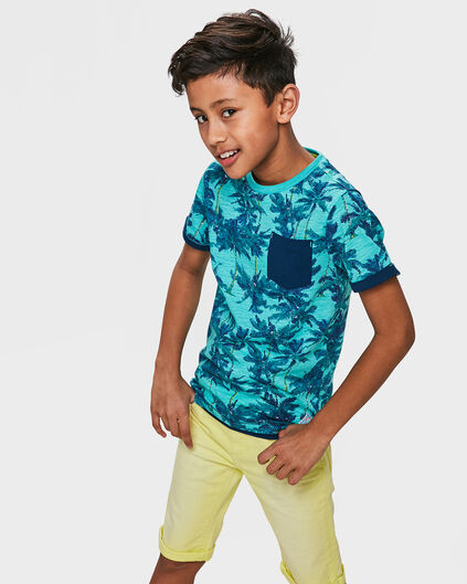 JONGENS PALM TREE T-SHIRT Turquoise