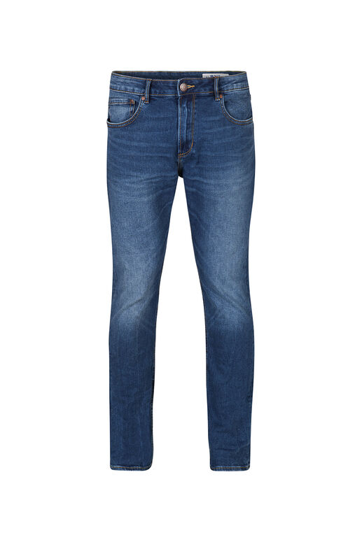 Heren regular straight comfort stretch jeans Blauw