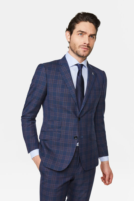 Heren slim fit blazer Trapani Marineblauw
