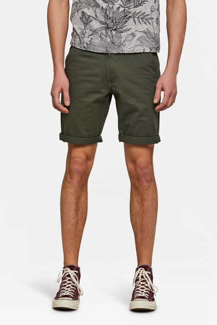 Bermuda regular fit chino homme Vert armee