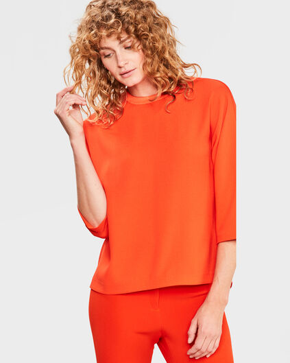 DAMES BUTTON BACK DETAIL TOP Oranje