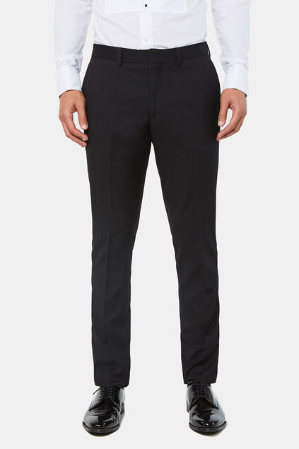 Heren slim fit smoking pantalon dali Zwart
