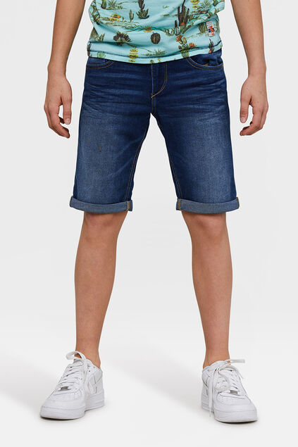 Short denim loose fit garçon Bleu