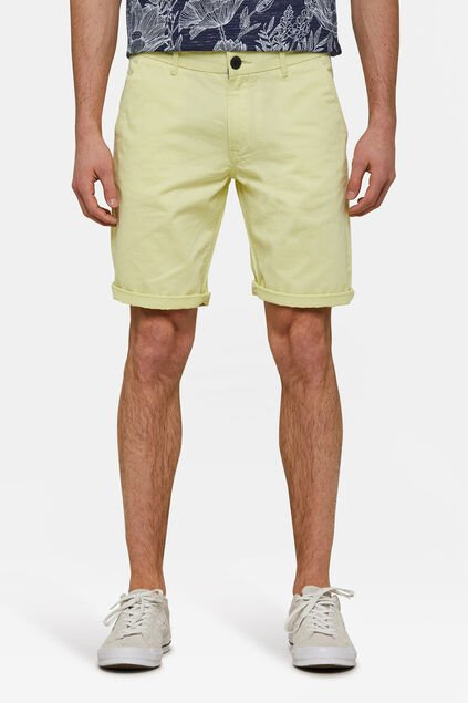 Bermuda regular fit chino homme Jaune clair