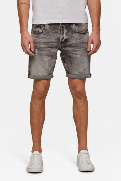 Short jog denim regular fit homme Gris
