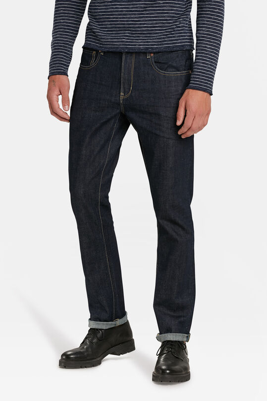Heren regular organic cotton comfort stretch jeans Blauw