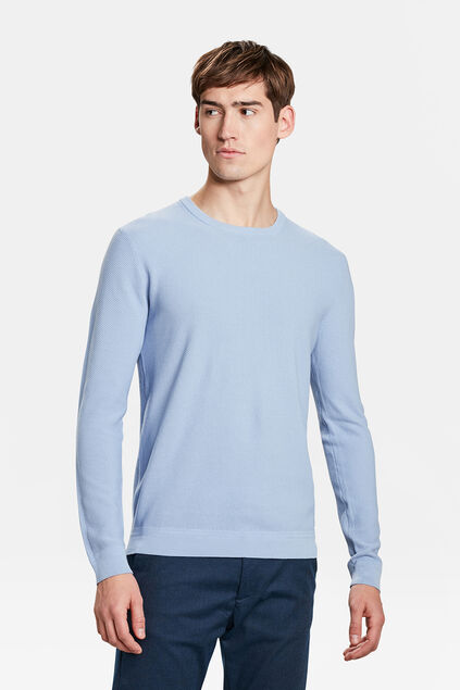 PULL STRUCTURE KNIT HOMME Bleu eclair
