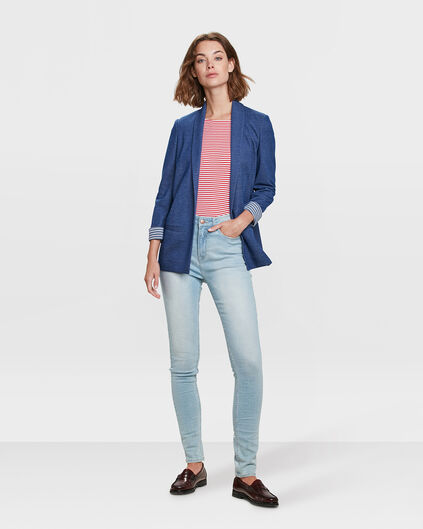 DAMES HIGH RISE SKINNY HIGH STRETCH JEANS Lichtblauw