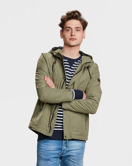 HEREN WIND JACKET Olijfgroen