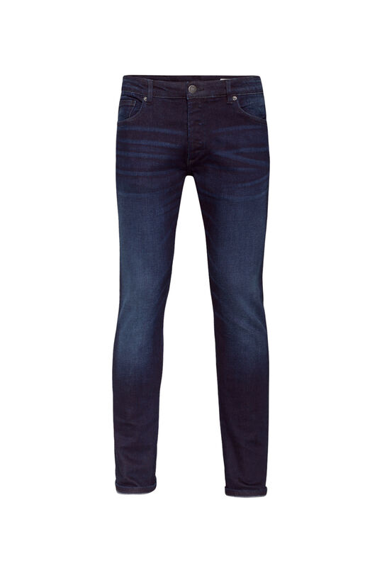 Heren slim tapered jog denim jeans Donkerblauw