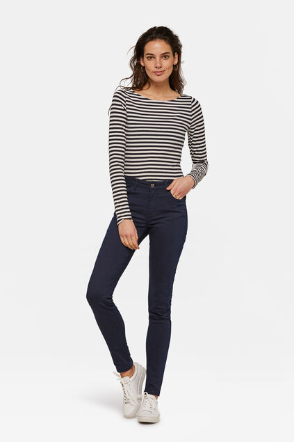 DAMES HIGH WAIST SKINNY HIGH STRETCH BROEK Marineblauw