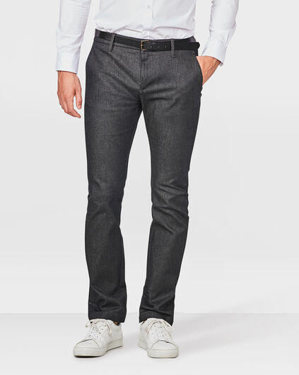 HEREN SKINNY FIT DENIM CHINO Zwart
