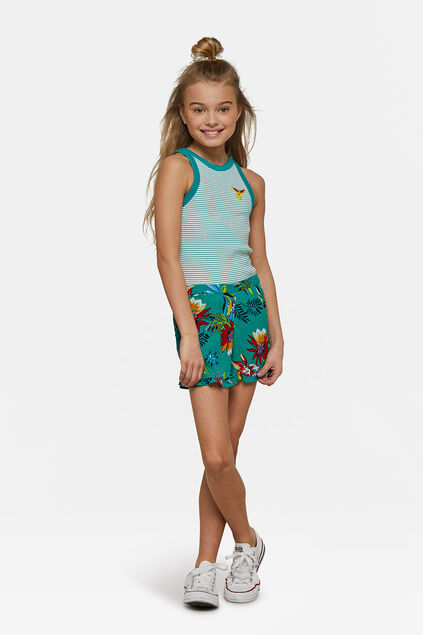 Short ruffle fille Turquoise