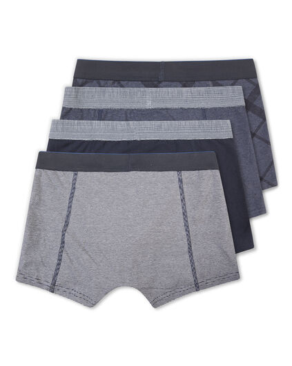 HEREN BLUE RIDGE BOXERSHORTS, 4-PACK Blauw