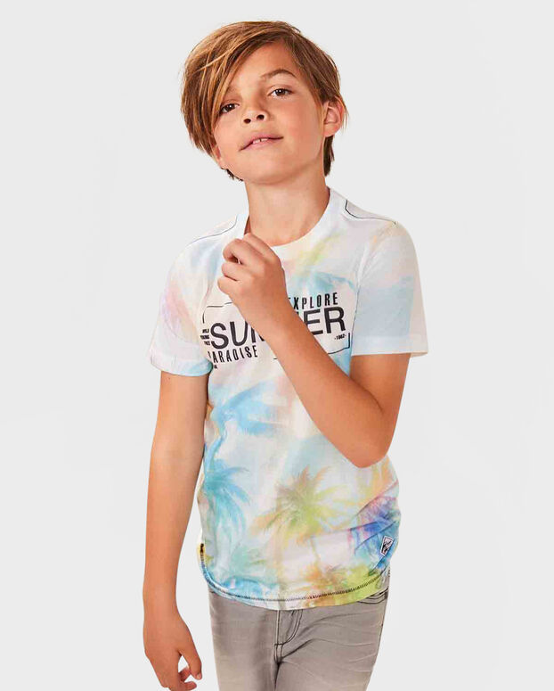 JONGENS SUMMER PRINT T-SHIRT Wit