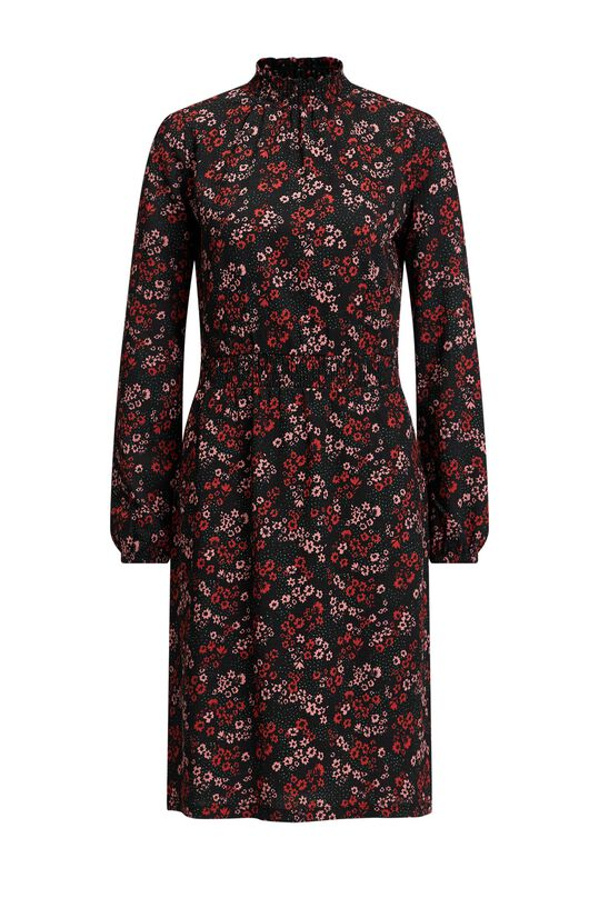 Dames jurk met bloemendessin All-over print