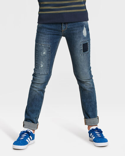 JEANS SKINNY POWER STRETCH GARÇON Bleu