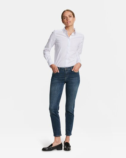 JEANS MID RISE SLIM HIGH STRETCH FEMME Bleu