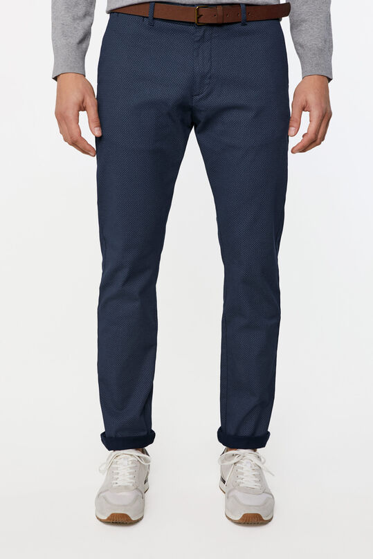 Heren skinny fit chino Donkerblauw