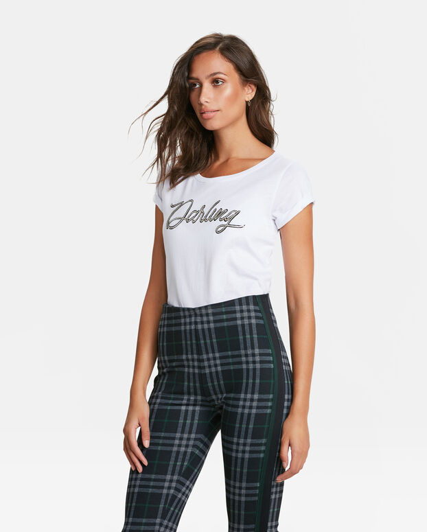DAMES DARLING PRINT T- SHIRT Wit