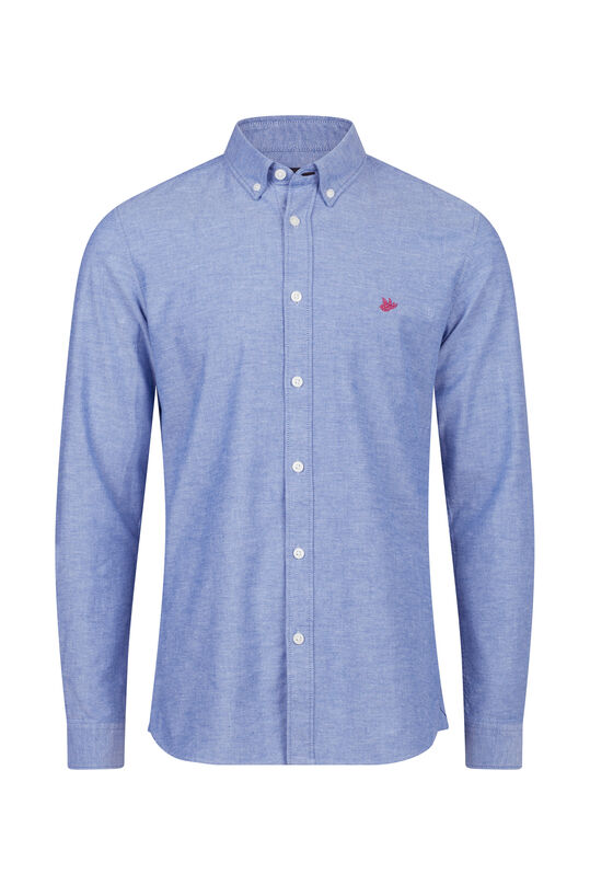 Heren Slim fit Oxford overhemd Kobaltblauw